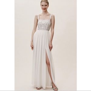Bhldn Palermo Dress No 49587348  Ivory Size: 4
